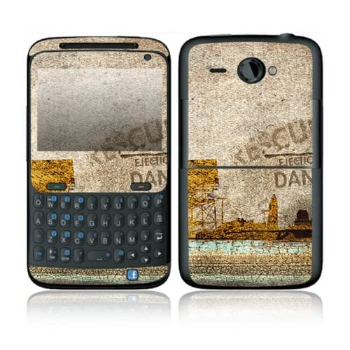 Danger Design Decorative Skin Cover Decal Sticker for HTC Status Cell Phone