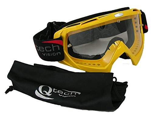 TEAR Off GOGGLES Motocross Enduro Suzuki for MX Helmet - YELLOW