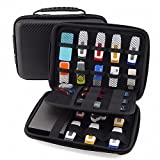GUANHE Multifunction Universal Digital Large Organizer Case Waterproof Electronic Accessories Storage Bag for USB Flash Drive Charger Cable Earphone Power Banks Hard Drive in Black (Color: Black)