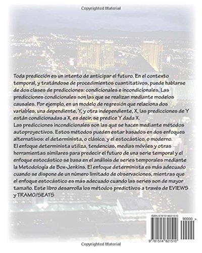 PREDICION ECONOMICA Y EMPRESARIAL. SERIES TEMPORALES con EVIEWS y TRAMO/SEATS