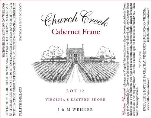 Nv Chatham Vineyards Church Creek Cabernet Franc 750 Ml