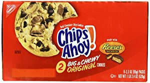 Chips Ahoy Cookies, Chocolate Chip, 2.3 Ounce (Pack of 48)