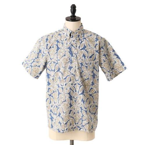 REYN SPOONER [ レインスプーナー ]HALU'A BATIK-nav (半袖 シャツ アロハシャツ ハワイアンシャツ) S ネイビー