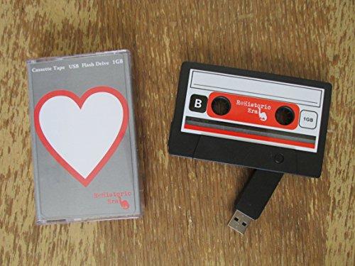 cassette tape usb stick flash drive 1 gb 2 0 usb heart design data storage flash drive. Black Bedroom Furniture Sets. Home Design Ideas