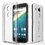Nexus 5X Case, PLESON® [Tou] LG Nexus 5X Clear Case Cover, Crystal Clear/Dotted Slim Fit/Lightweight/Exact Fit/NO Bulkiness Clear back panel+Soft TPU Protective bumper Case for Google Nexus 5X (2015)