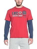 Lonsdale Camiseta Manga Larga Teston (Rojo)
