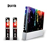 MightySkins Skin Decal Cover for Nintendo Wii Console + two Wiimote Controllers Sticker- Splatter (Color: Splatter, Tamaño: Nintendo Wii + Wiimotes Benjamins)