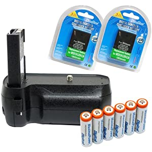 Maximal Power Replacement Battery Grip Combo for Nikon D40,  D40X, D60, and D5000