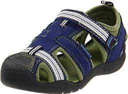 pediped Flex Sahara Sandal (Toddler/Little Kid),Blue,32 EU (1 M US Little Kid)