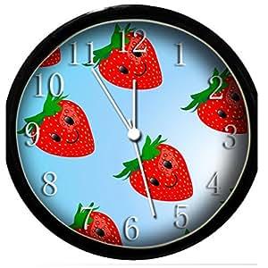 glow in the dark wall clock strawberry 2