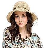 Urbancoco Damen klappbare Kappe flexible Sommer Strand Sonne...