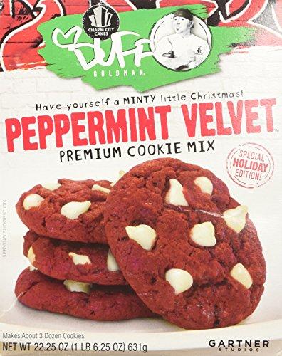 Duff Goldman Peppermint Velvet Premium Cookie Mix 22.25 oz (Zebra Cake Mix compare prices)