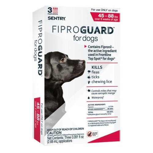FiproGuard 3-Month Dogs 45-88 Lbs Red