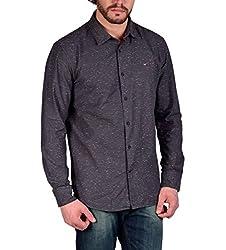 Enryca Men's Casual Shirt(ENMSH 0127GREY -XL_Grey_44)