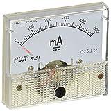 uxcell アナログ電流計 電流計 DC0?500mA パネルAMPメーターゲージクラス2.5 85C1
