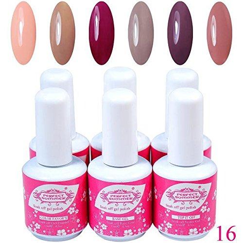 Perfect-Summer-Gel-Polish-15mlpc-6pcs-Mix-Rainbow-Color-UV-Gel-Nail-Polish-16