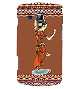 PrintDhaba Dance D-2525 Back Case Cover for SAMSUNG GALAXY S DUOS S7562 (Multi-Coloured)