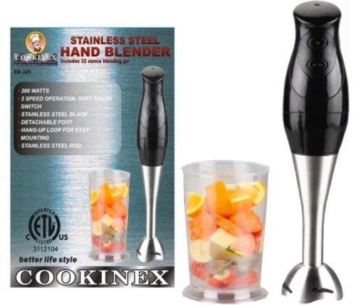 cookinex 200 Watts Stainless Steel Hand Blender with Bonus Blending Jar at Sears.com