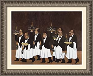 Charge of the Flower Bottle Brigade by Guy Buffet Framed