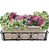 CobraCo Kingston Adjustable and Expandable Bronze Flower Box Holder  F101-BZ
