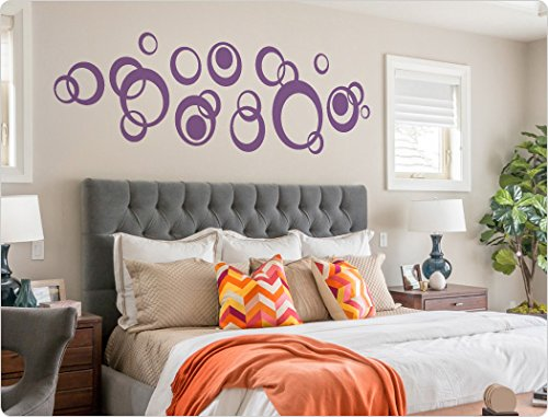 i love wandtattoo 11908 wandtattoo retro kreise dots wohnzimmer wandaufkleber wandsticker. Black Bedroom Furniture Sets. Home Design Ideas