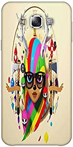 Snoogg Deer Hipster Girl 2620 Hard Back Case Cover Shield Forsamsung Galaxy E5