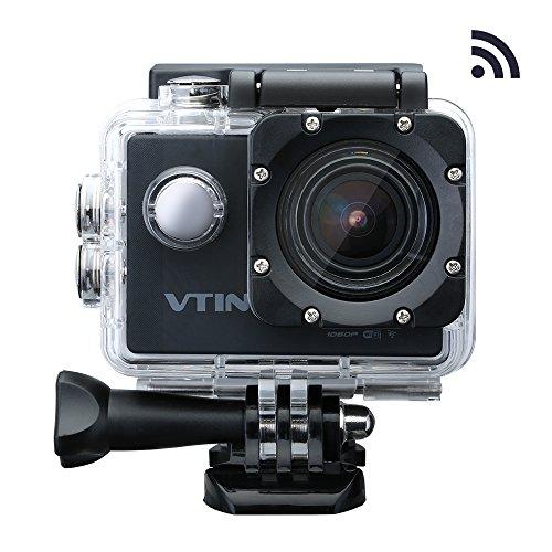 VicTsing Azione Videocamera Impermeabile WIFI 1080p 12M, Videocamera per Sport, 170 Gradi Ampio Angolo, 2.0 Inch di Schermo LCD, Full HD, Sott'acqua 30m, Waterproof Videocamera, con 2Batterie, Nero