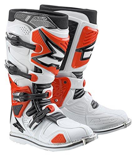 AXO MX2R0018-WR A2 Bottes de Motocross, Taille 41, Blanc/Rouge