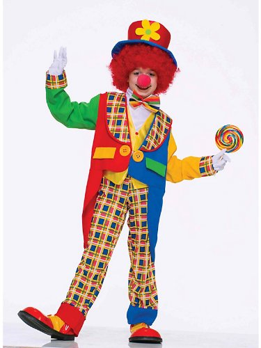 Clown Around Town Child Costume Bundle With Accessories ( SIZE L )