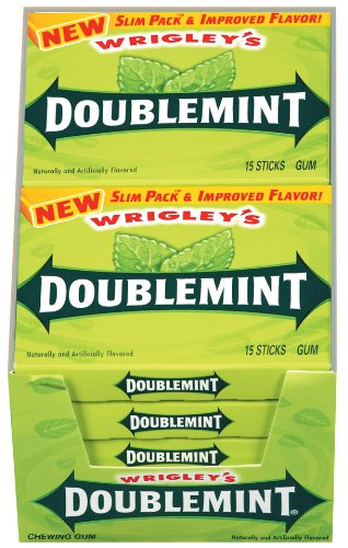 Wrigley's Doublemint Gum, 15-Stick Slim Packs (Pack of 20)