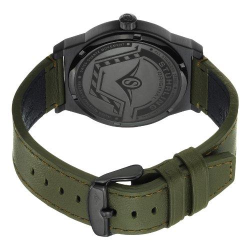 Stuhrling Original Men s 454.3355D1 Leisure Eagle Osprey Swiss Quartz Date  Green Leather Strap Watch 285edb20145