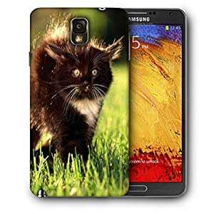 Snoogg Black Cat Printed Protective Phone Back Case Cover For Samsung Galaxy NOTE 3 / Note III