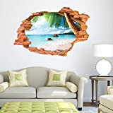 Geniales-3D-Landschaft-Wandtattoo-Piratenschiff-Navigation-Dekorative-Vinyl-selbstklebend-PVC-Hall-Room-Decor-Beach