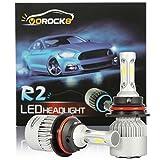 R2 COB 9007 HB5 8000LM LED Headlight Conversion Kit, Hi/Lo beam headlamp, Dual Beam Head Light, HID or Halogen Head light Replacement, 6500K Xenon White, 1 Pair- 1 Year Warranty