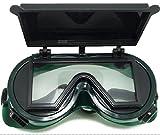 溶接 ゴーグル 防塵 メガネ 眼鏡 (四角型)