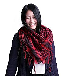 Anuze Fashions New Styles Scarves Arab Shemagh Arafat Scarf For Women's And Girl's (RED ARAFAT-XX59OLCE3)