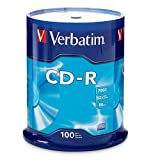 Verbatim 97458 700 MB 52x 80 Minute Branded Recordable Disc CD-R, 100-Disc Spindle