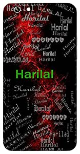 Harilal (Son Of Hari) Name & Sign Printed All over customize & Personalized!! Protective back cover for your Smart Phone : Apple iPhone 4/4S
