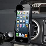 Amzer AMZ95602 Swiveling Air Vent Mount Holder for Apple iPhone 5, iPhone 5S (Fits All Carriers) - Black