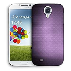 Snoogg Abstract Purple Pattern Designer Protective Phone Back Case Cover For Samsung Galaxy S4