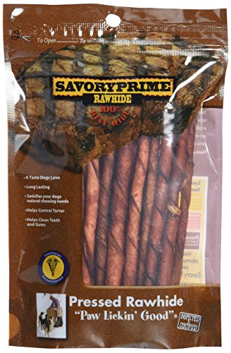 Artikelbild: Savory Prime Twist Sticks Beef Natural Dog Chewable Pet Chew Treats 5in 20pk