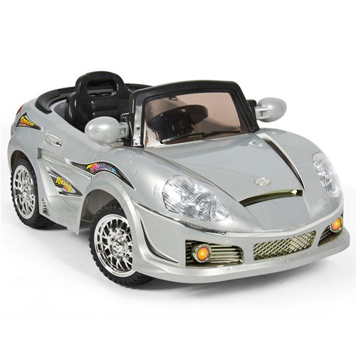 New Silver Mp3 Kids Ride On R C Remote Control Power