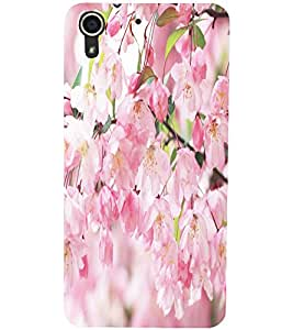 PrintDhaba Flowers D-5515 Back Case Cover for HTC DESIRE 728 (Multi-Coloured)