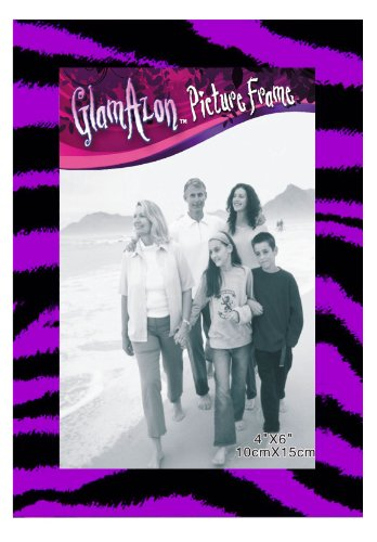 Inkology GlamAzon Picture Frame, Holds 4 X 6 Photos, Single Frame, Animal Print May Vary (852-1) (Animal Picture Holders compare prices)