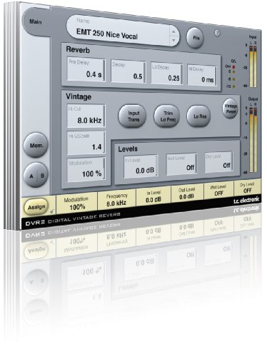 Tc Electronic Dvr2 Digital Vintage Reverb Including Presets From System 6000 For Pro Tools