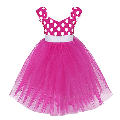 FEESHOW Baby Girls' Minnie Mouse Party Fancy Dress Up Costume Tulle Gown (18-24 Months, Hot Pink) (Top Fancy Dress Costumes)