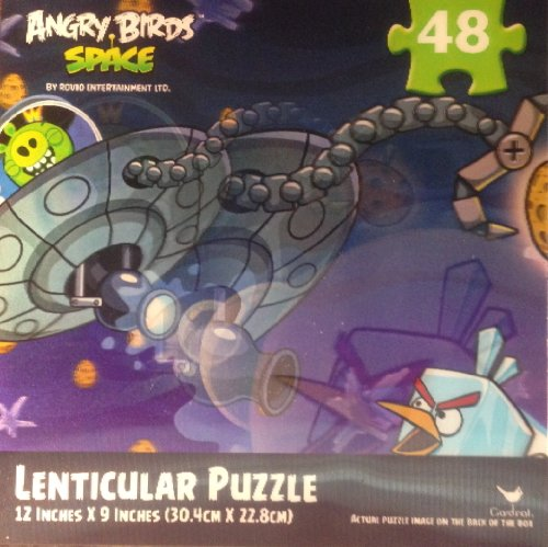 "Angry Birds Space 48pc Lenticular Puzzle -puzzle size : 12""*9"""