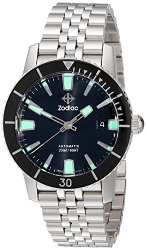 Zodiac Men's ZO9250 Heritage Automatic Stainless Steel Watch (Zodiac Super Sea Wolf compare prices)