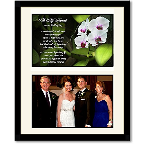 Wedding Gifts For Parents Amazon : Parent Wedding Gift - Thank You from Bride or Groom - Add Photo Behind ...
