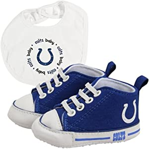 Indianapolis Colts NFL Infant Bib and Shoe Gift Set by BaFanatic